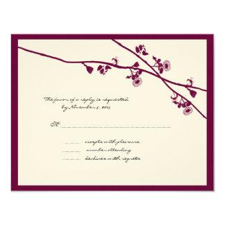 Carte La fleur sauvage de prune s'embranche épousant