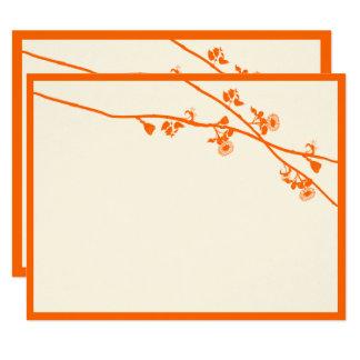 Carte La fleur sauvage orange lumineuse s'embranche