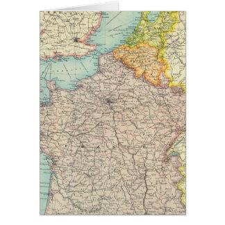 Carte La France, la Belgique et la Hollande politiques