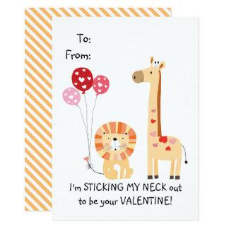 Carte La girafe mignonne badine Valentine