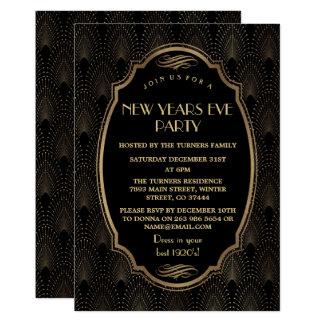 Carte La grande Gatsby nouvelle année de charme de