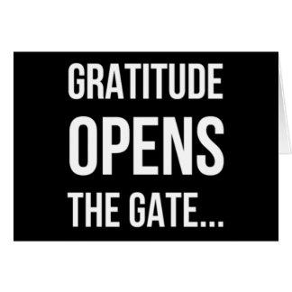 Carte La gratitude ouvre la citation inspirée de porte
