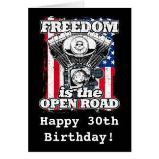 Carte La liberté est les cyclistes ouverts de drapeau