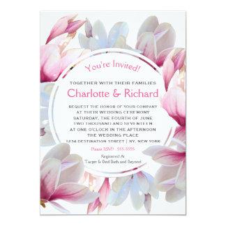 Carte La magnolia rose du sud fleurit mariage