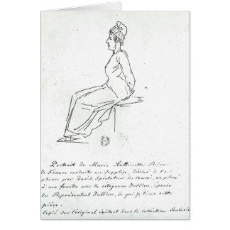 Carte La manière de Marie-Antoinette à son exécution