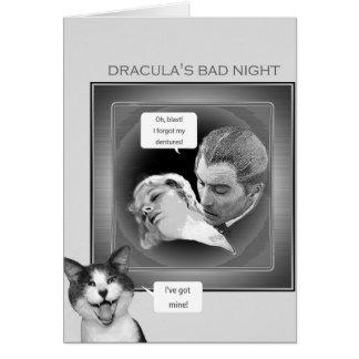 Carte La mauvaise nuit de Dracula