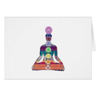 Carte La méditation de yoga de NVN723 Chakra maîtrise le