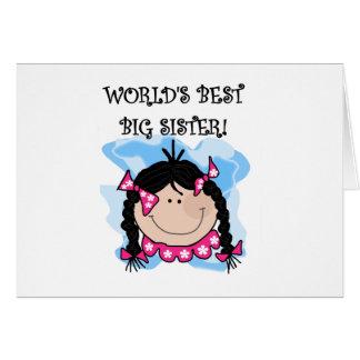 Carte La meilleure grande soeur du monde d'une chevelure