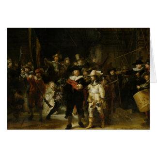 Carte La montre de nuit, Rembrandt Van Rijn