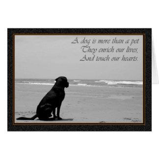 Carte La mort d'un animal familier, la mort de chien,