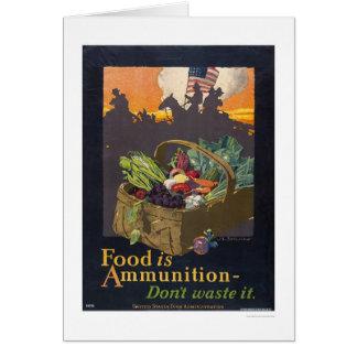 Carte La nourriture est des munitions
