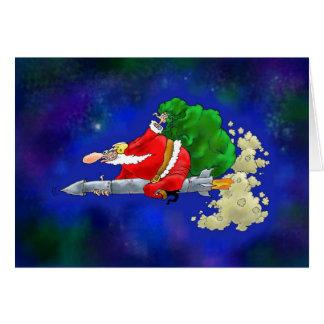 Carte La nouvelle fusée de Père Noël