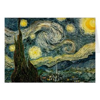 Carte La nuit étoilée de Vincent van Gogh (1889)