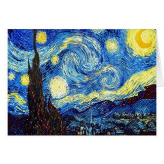 Carte La nuit étoilée par Vincent van Gogh 1889