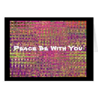 """Carte La """"paix soit avec vous """""""