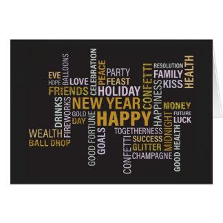Carte La partie de nouvelle année exprime l'invitation