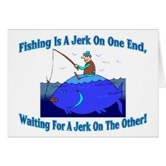 Carte La pêche est une secousse sur une extrémité