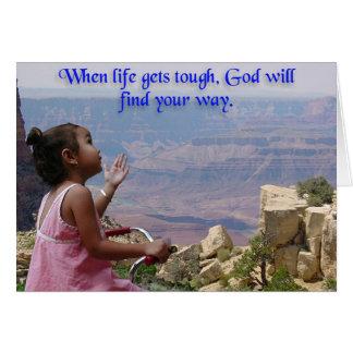 Carte La petite fille demande à Dieu