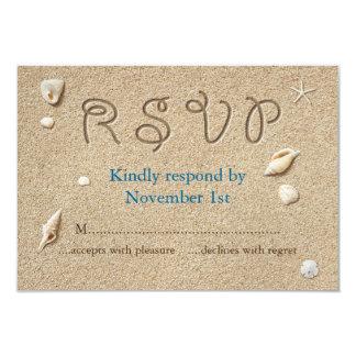 Carte La plage Sandy botte les baisers salés RSVP