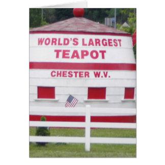 Carte La plus grande théière du monde