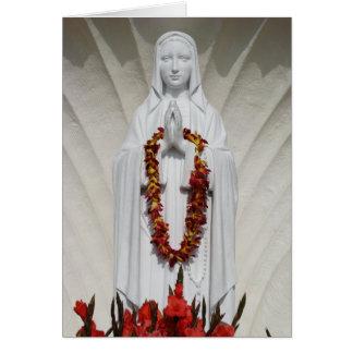 Carte La prière de Vierge Marie