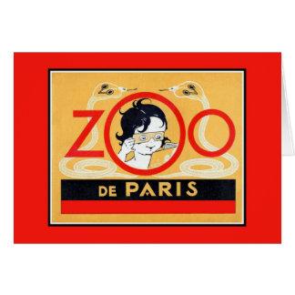 Carte La publicité vintage de stereoscopes de zoo de