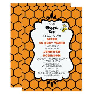 Carte La reine des abeilles mignonne gaffent l'abeille