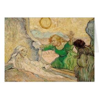 Carte La résurrection de lazare (d'apr de Vincent van