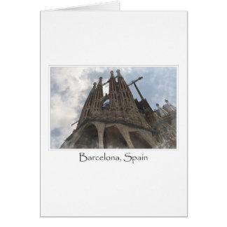 Carte La Sagrada Familia à Barcelone Espagne