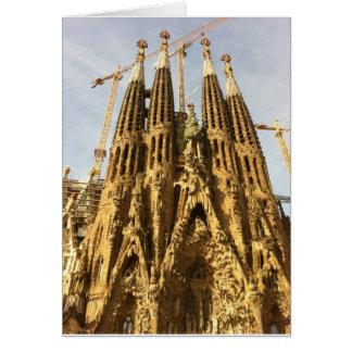 Carte La Sagrada Familia, Barcelone, Espagne