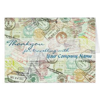 Carte La salutation de voyage de timbre de passeport
