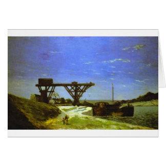 Carte La Seine à Paris par Paul Gauguin