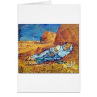 Carte La Sieste de Vincent Van Gogh (Noon)