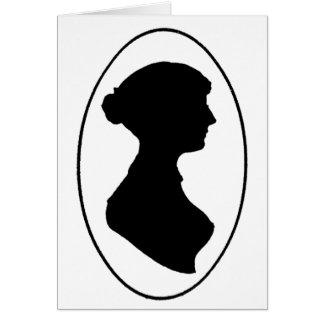 Carte La silhouette de Jane Austen