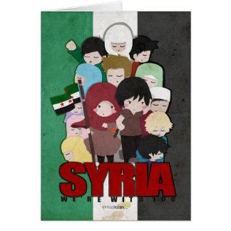 Carte La SYRIE - nous sommes avec vous