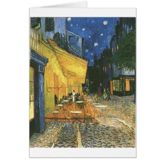 Carte La terrasse du café de Vincent van Gogh