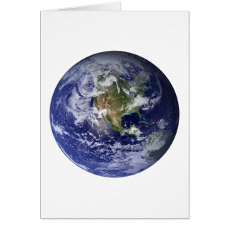 Carte La terre de l'espace
