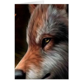 Carte La tête d'une peinture de loup