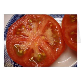 Carte La tomate parfaite de tranche