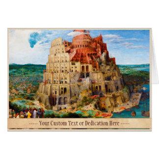 Carte La tour de Babel Pieter Bruegel l'art plus ancien