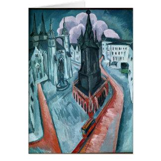 Carte La tour rouge à Halle, 1915