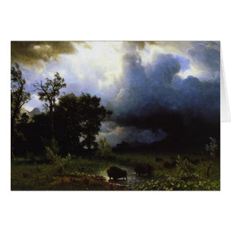 Carte La traînée de Buffalo par Albert Bierstadt