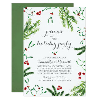 Carte La verdure de Noël Party, dîner de répétition