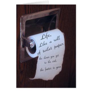 Carte La vie, comme un rouleau de papier hygiénique