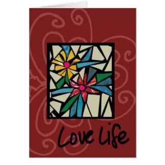 Carte la vie d'amour
