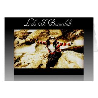 Carte La vie est belle