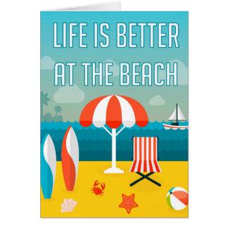 Carte La vie est meilleure à la plage
