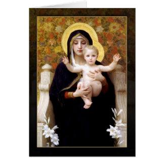 Carte La Vierge des lis par William Bouguereau