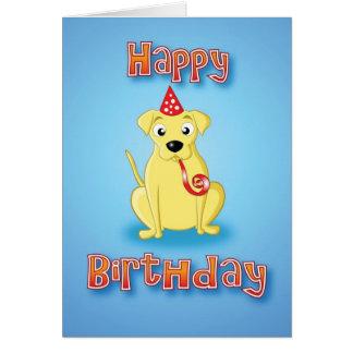 Carte Labrador - hat&whistle - joyeux anniversaire