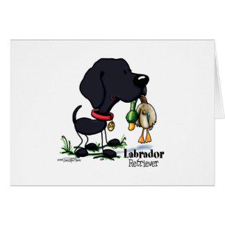 Carte Labrador retriever - noir
